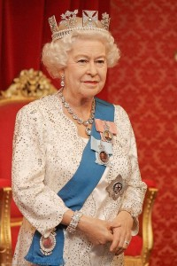 Queen Elizabeth II wax figure at Madame Tussauds